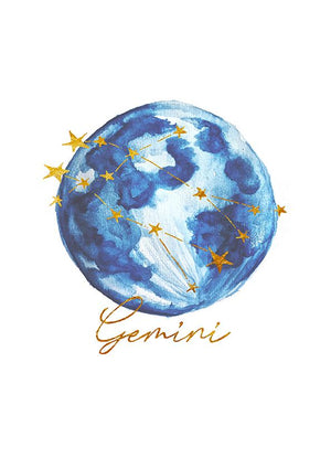 Zodiac Foiled Art - Gemini