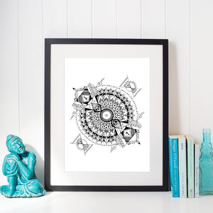 """Inception"" Mandala PRINT"