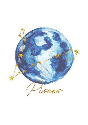 Zodiac Foiled Art - Pisces