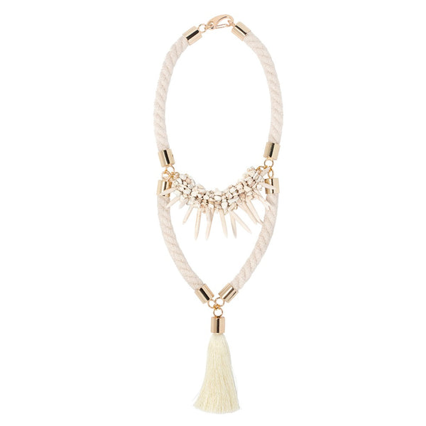Accent Tassel Necklace (Various Colors)