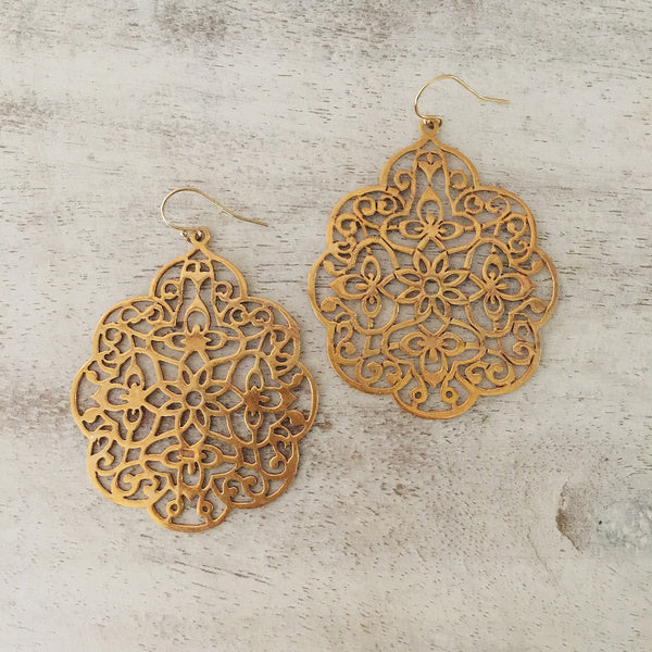 Deco Chantilly Earrings (Gold / Silver)