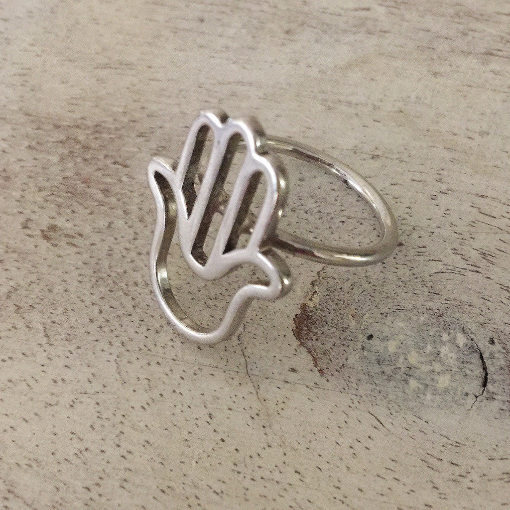 Silver Hand of Fatima Ring
