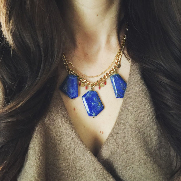 minu jewels lapis lazuli gold chain necklace handmade jewelry boyajian