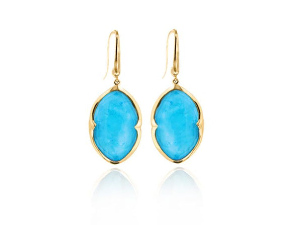 Gold Drop Earrings (Various Stones)