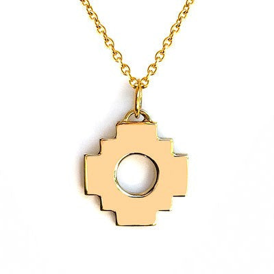 Chakana Cross Necklace 18mm (Gold / Silver)