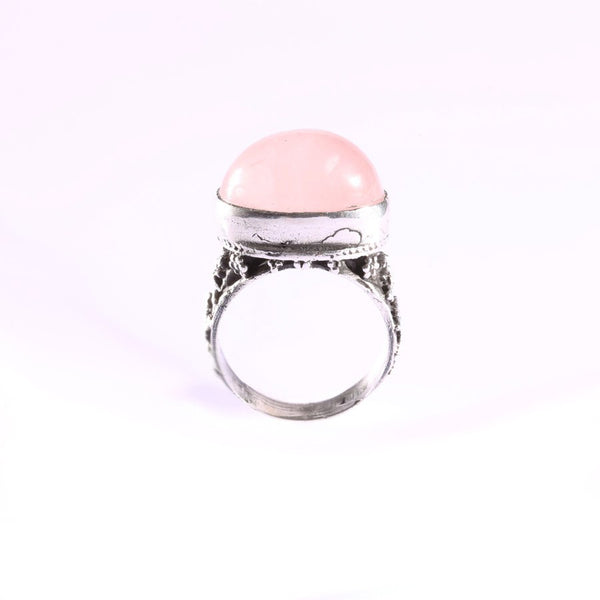 Minu Jewels Jewelry Handmade Silver Ring with Rose Quartz at Boyajian