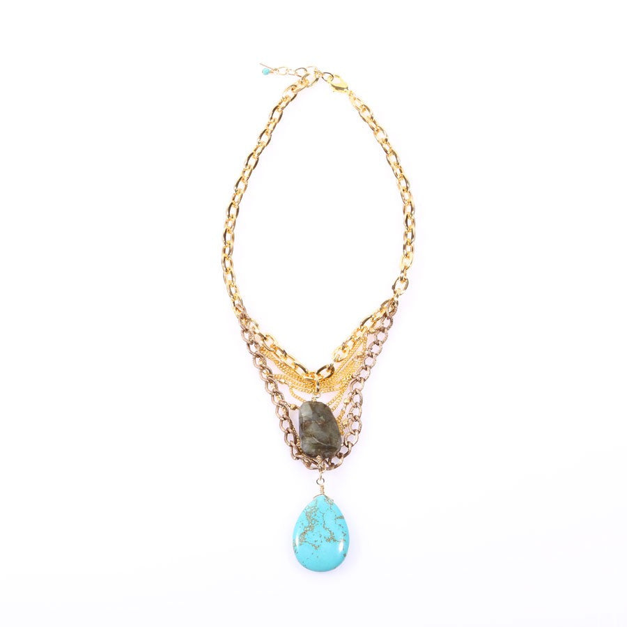'Saline' Turquoise Necklace