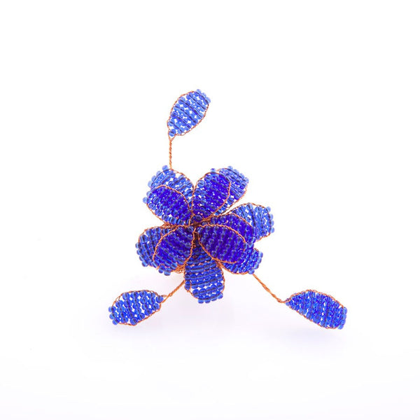 Handcrafted Beaded Flower Ring (Various Colors)