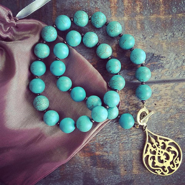 'Arabesque' Turquoise Necklace