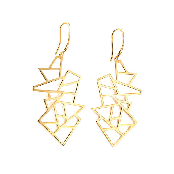 Lattice Drop Earrings (Short)