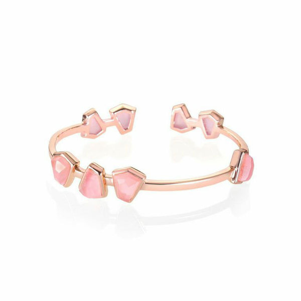 Boyfriend Cuff with Stones (Silver, Rose Gold / Gold)