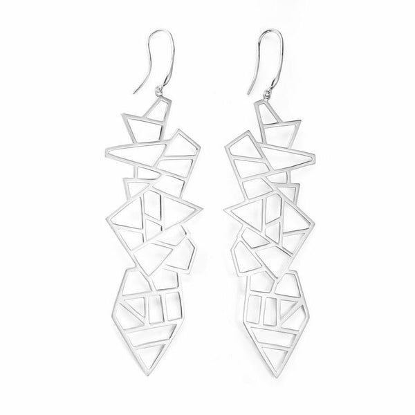 Lattice Drop Earrings (Long)