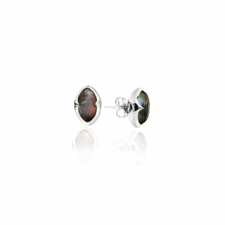 missoma sterling silver stud earrings boyajian jewelry grey mother of pearl