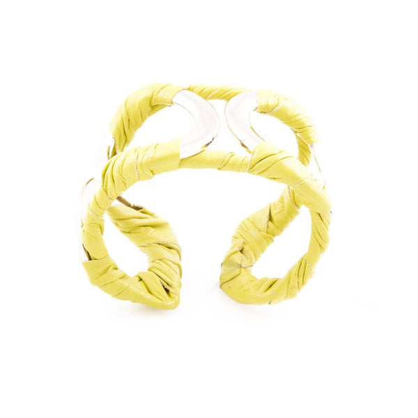 Leather Cuff (Yellow/Red)