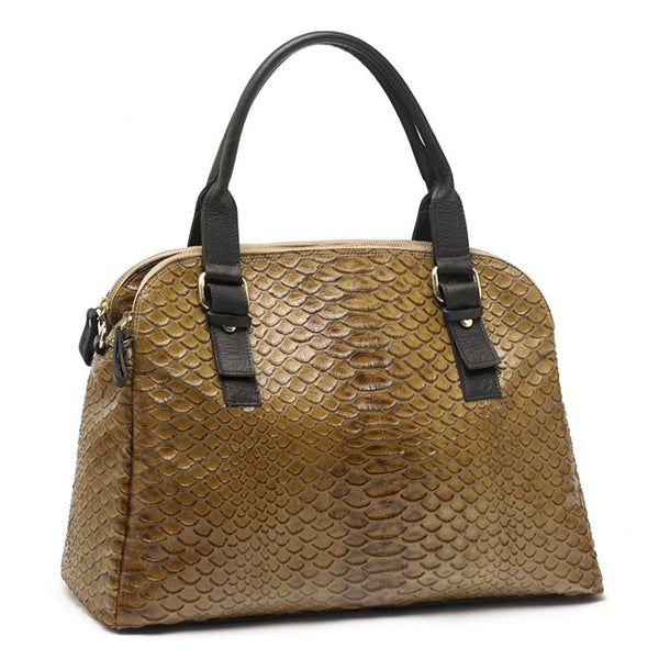 Italian Leather Handmade handbag travel bag. Toscannia at Boyajian Trend Gallery