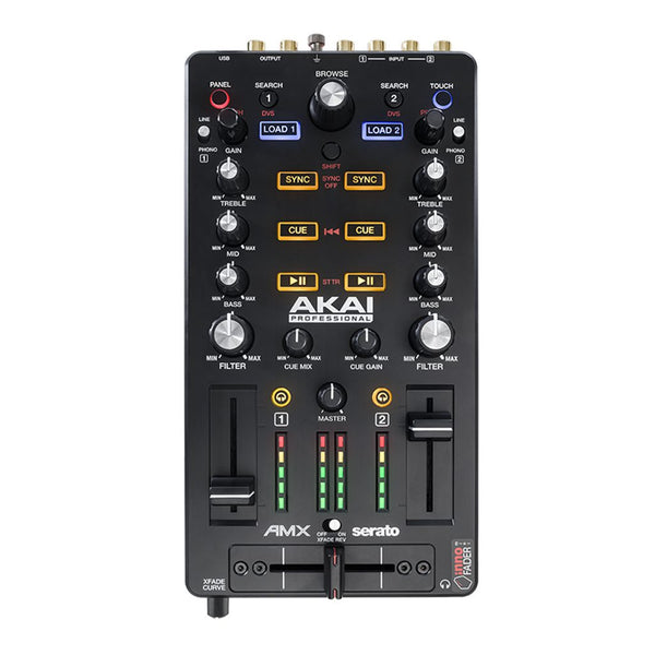 Akai AMX 2-channel Mixing Surface with Audio Interface for Serato DJ