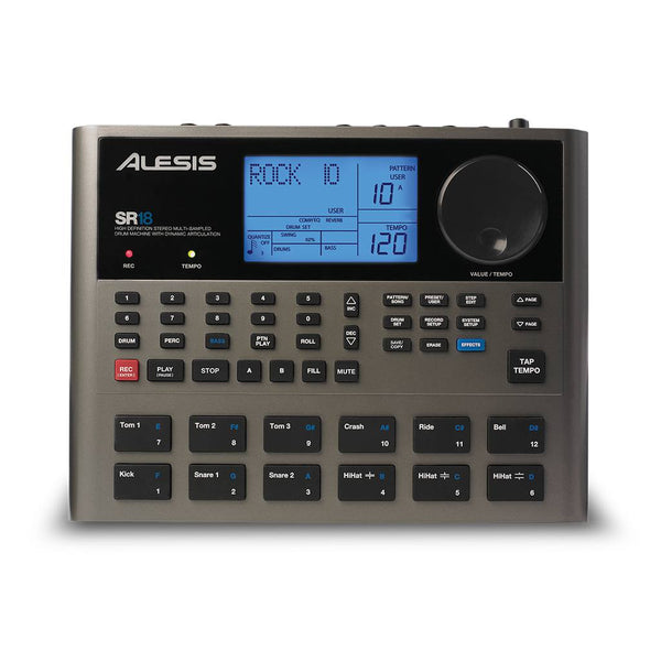 Alesis SR18 Portable Drum Machine with sound library and Built-in Effects
