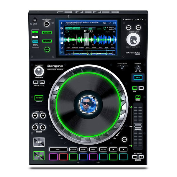 "Denon DJ SC5000 Prime Dual-deck DJ Media Player with 7"" Multi-touch Display"
