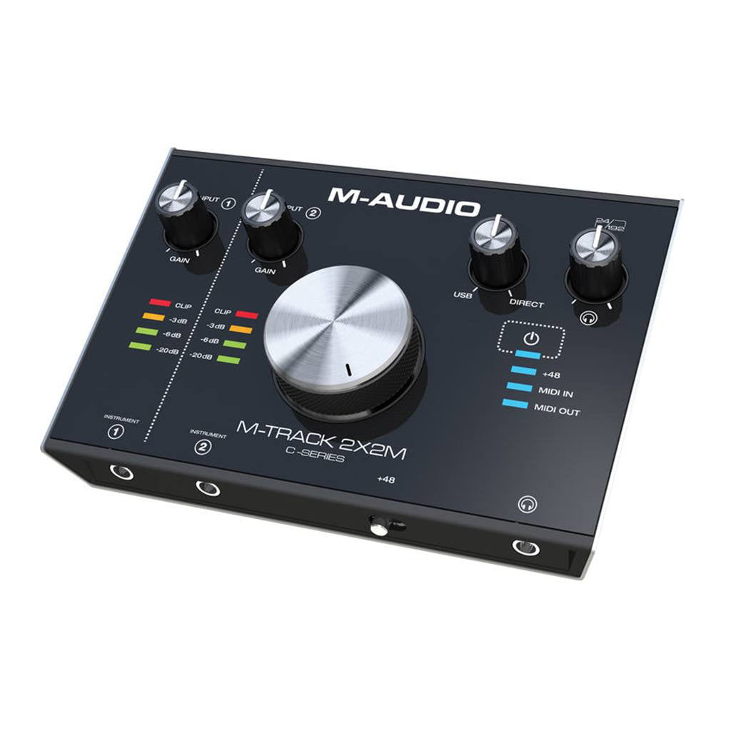 M-Audio M-Track 2X2M 2-IN 2-OUT 24/192 USB Audio MIDI Interfaces
