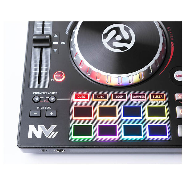 Numark NVII NV MK2 DJ Controller and Denon DJ HP600 DJ Headphones Bundle