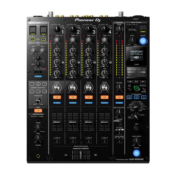 Pioneer DJ DJM-900NXS2 4-channel DJ Mixer with Effects - Black