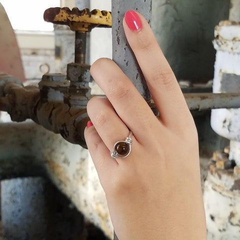 Dragon Vein Agate Ring