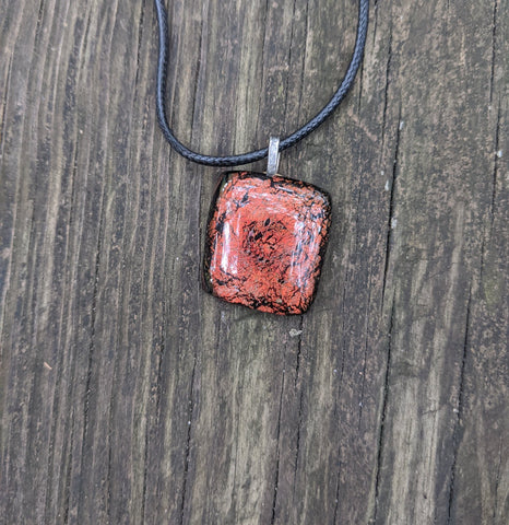 Lava - glass pendant