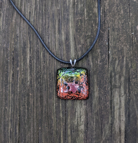 Ombre - glass pendant