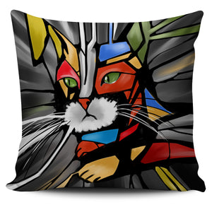Cat Abstract Four Pillow Cover