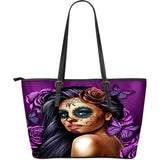 Calavera Large Vegan Leather Tote BW/Color