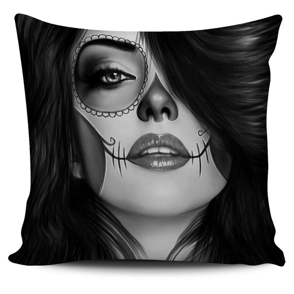Tattoo Calavera Pillow Cover Free + Shipping