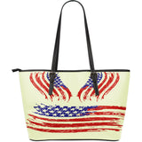 US Flag Large Vegan Leather Flag Tote Bag (2 Styles)
