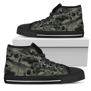Camo Skulls Men's High Tops