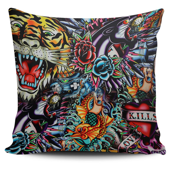 Tattoo Art Pillow Cover