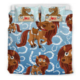 Children's Love Horse Bedding Set