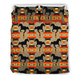 Horse Tan Print Bedding Set