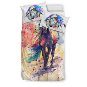 Children's Colorful Horse Bedding Set