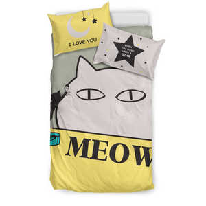 Cat Meow Bedding Set