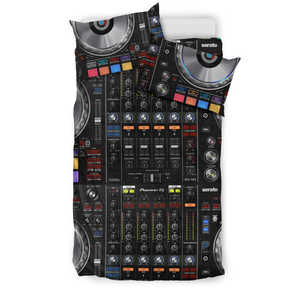 Cool DJ Mix 3D Bedding Duvet Set - Black - (Style 2)