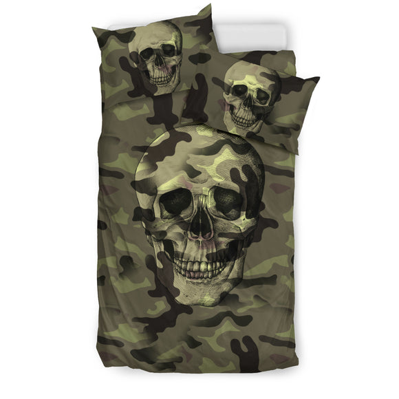 Camo Skull Bedding Set Camouflage with Skulls