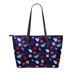Nursing Style Small Leather Tote Bag