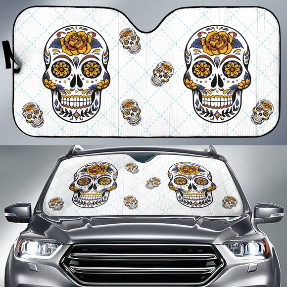 SSkull Car Sun Shade