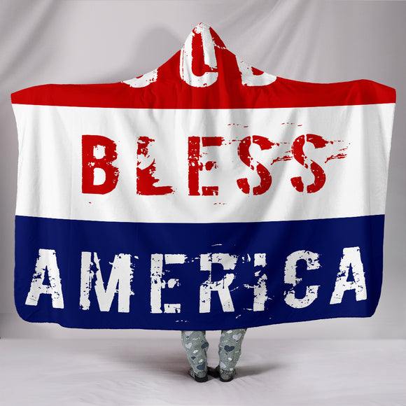 God Bless America Hooded Blanket