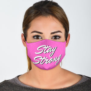 Purple Stay Strong Face Mask