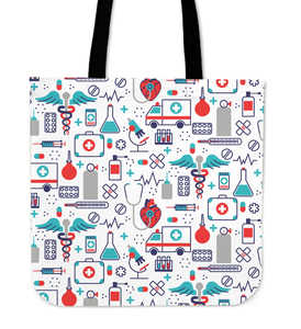 Nurse Print Tote Bag