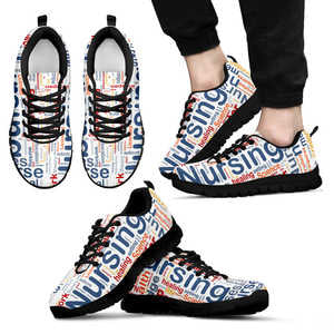 Nursing Print Black Sneakers