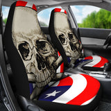 Flag Skull Car Seat Covers