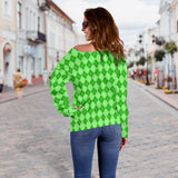 St Patrick's Day Women's Off Shoulder Sweater
