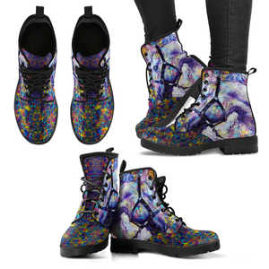 Abstract Horse Women's Handcrafted Premium Boots