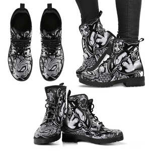 Tattoo Vegan Leather Women Boots